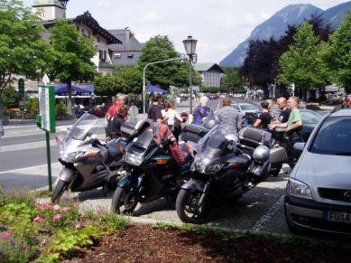 Parkerade i Garmisch Partenkirchen.