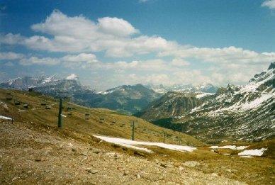 Utsikt över bergen i norra Italien