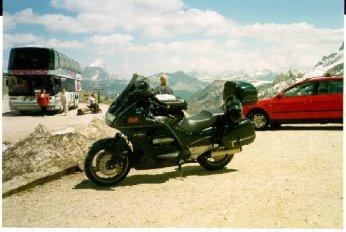 Här har vi nått toppen ca 2200m öh, och stannat för lunch
