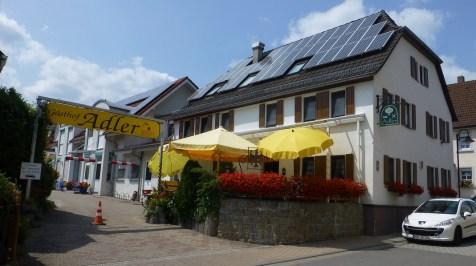 Här bodde vi Gasthof Adler i Hassmersheim