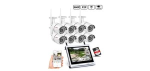 8 channel ANRAN Home Surveillance System Wireless 12 inch LCD NVR Kit