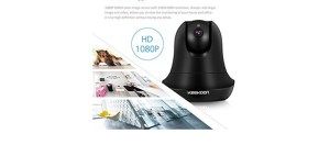 KeeKoon 1080P Wireless Wired IP Camera Baby Monitor Black