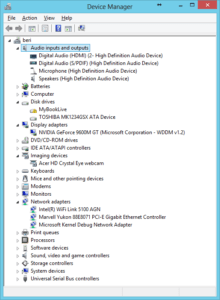 Windows 8 - device manager