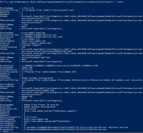 powershell lista programow 3