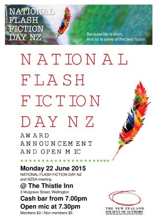 Flash Fiction prize-giving 2015