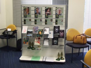 Beautiful Display set up by graphic designer Peter Fitzpatrick