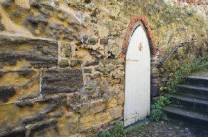 Author: Door And Stone Wall by George Hodan