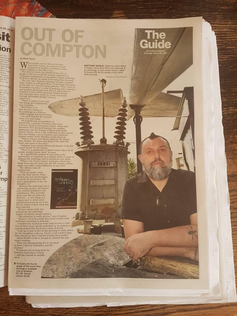Te Kōrero Ahi Kā in the Gisborne Herald