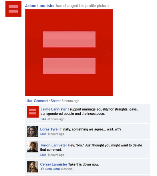Jamie's Facebook Status
