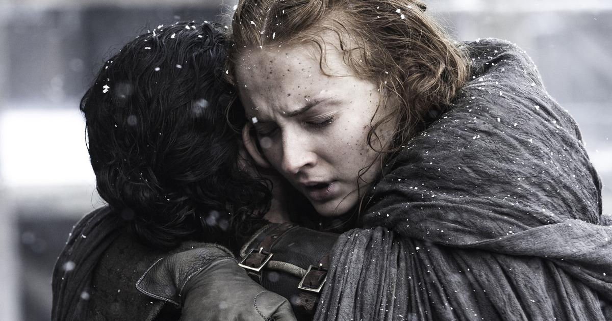 Jon and Sansa Hug