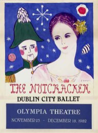 Colour poster advertising a Dublin City Ballet performance of the Nutcracker