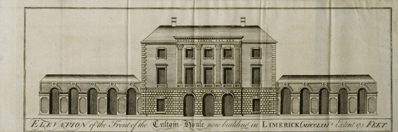 Elevation of Limerick Custom House