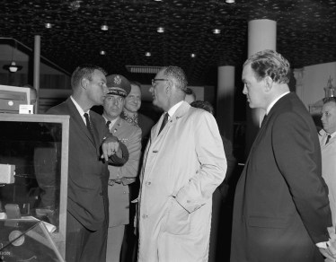 Lyndon B. Johnson in conversation with officials [P50/1/1/3581 (SDN_LF_3679)]