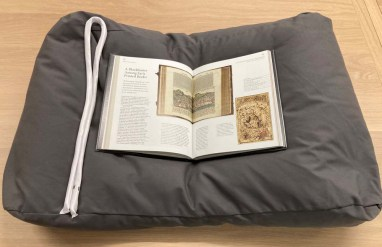 Book rest pillows and long 'snake' weights help protect a book's spine, and keep the book open at a particular page without having to force down the textblock, or put pressure on the binding