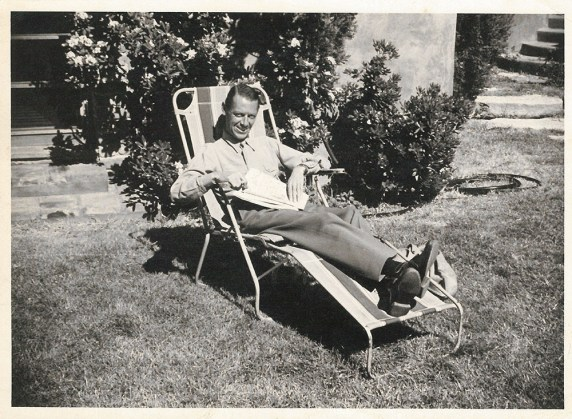 The 28th Knight of Glin relaxing in the garden in the 1940s (P1/509 (1))