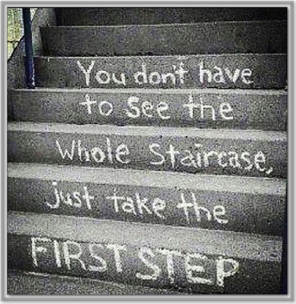 Image result for take the first step