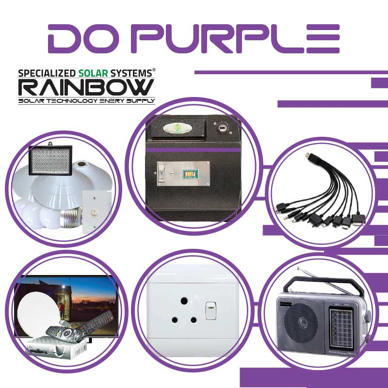 DO-PURPLE Off-grid Solar System with Appliances Kit