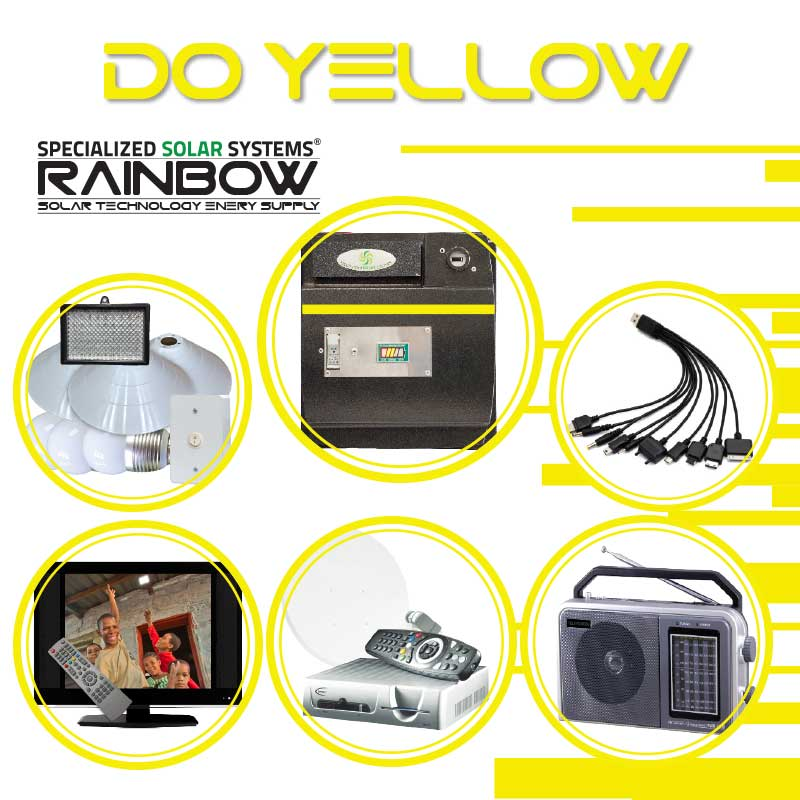 DO-YELLOW Off-grid Solar System with Appliances Kit