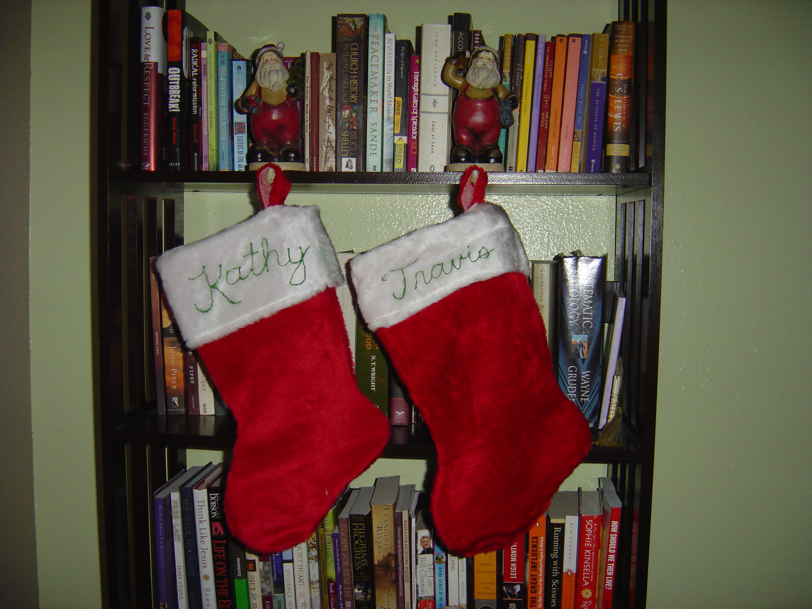 Our stockings that I decorated.