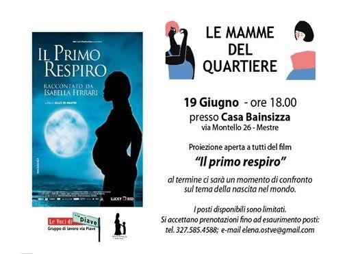 proiezione de IL PRIMO RESPIRO - un film-documentario di Gilles De Maistre Giovedì 19 Giugno 2014