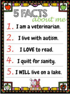 5 facts about me filled out
