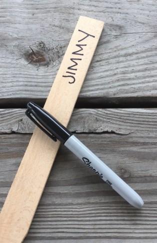 name on stick