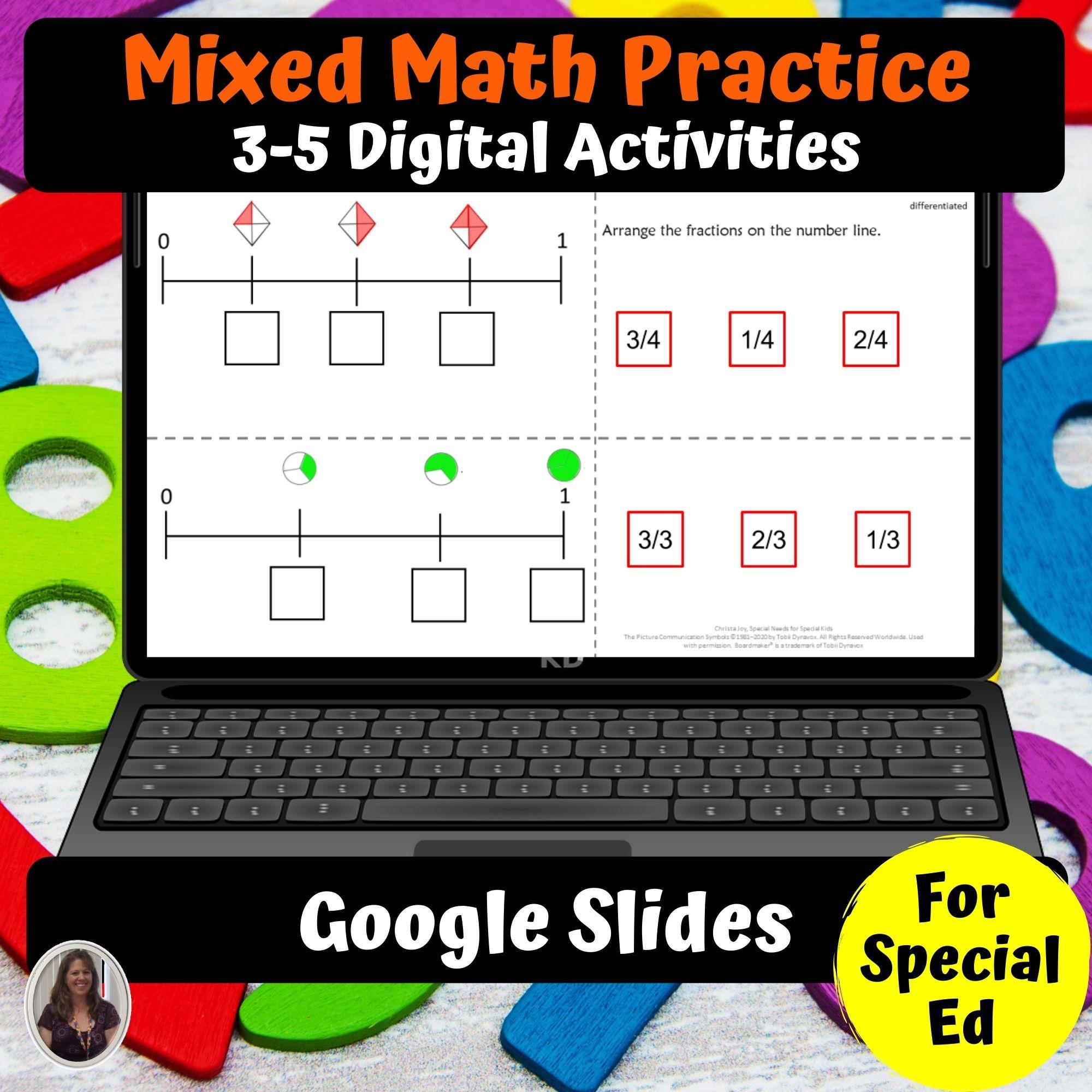 Math Digital Worksheets 3 5 Special Ed For