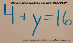 Who put a letter in my MATH?