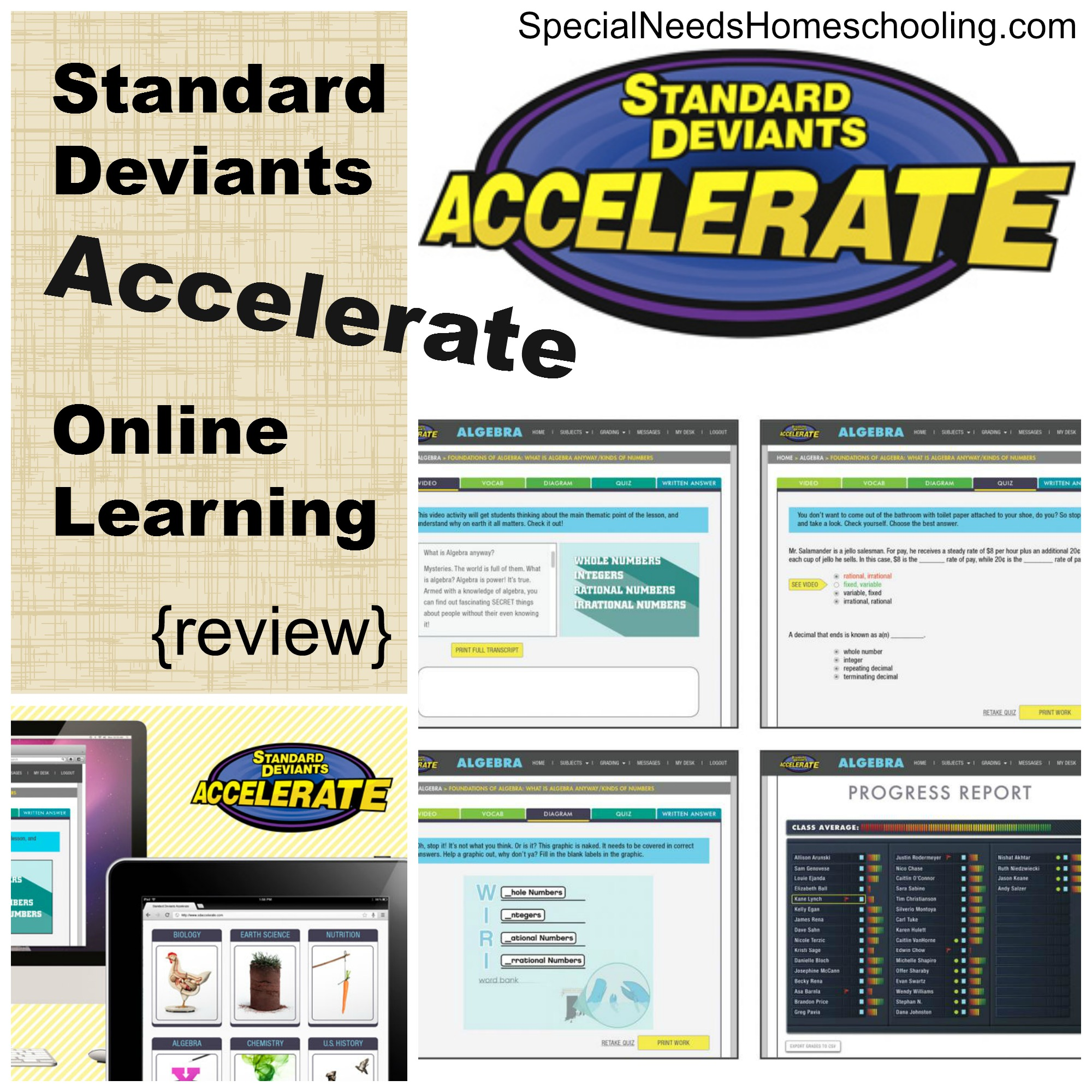 Standard Deviants Accelerate Online Learning {review