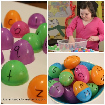 Kinetic Learning with Easter Eggs & Letters!