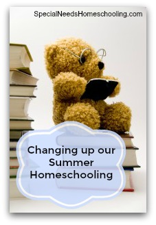 Changing up our Summer Homeschooling