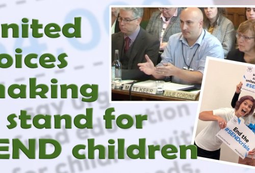 United voices making a stand for our SEND children