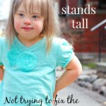 She stands tall; not trying to fix the child I adopted