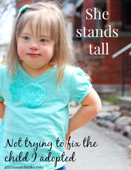 Evie stands tall