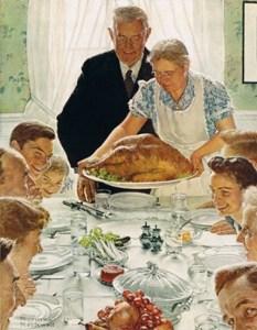 Norman Rockwell Christmas dinner
