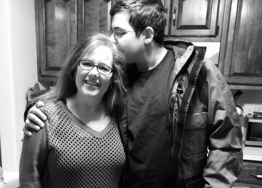 Tyler and his mother