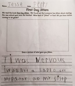 His fear makes me sad. Also, who thought this assignment was a good idea?