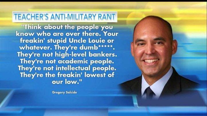 Резултат с изображение за California teacher slams military