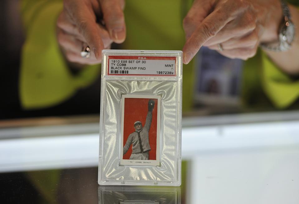 A 1910 Ty Cobb baseball card