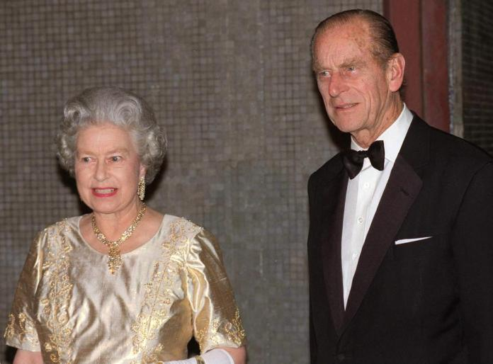 Queen And Philip At Anniversary Party