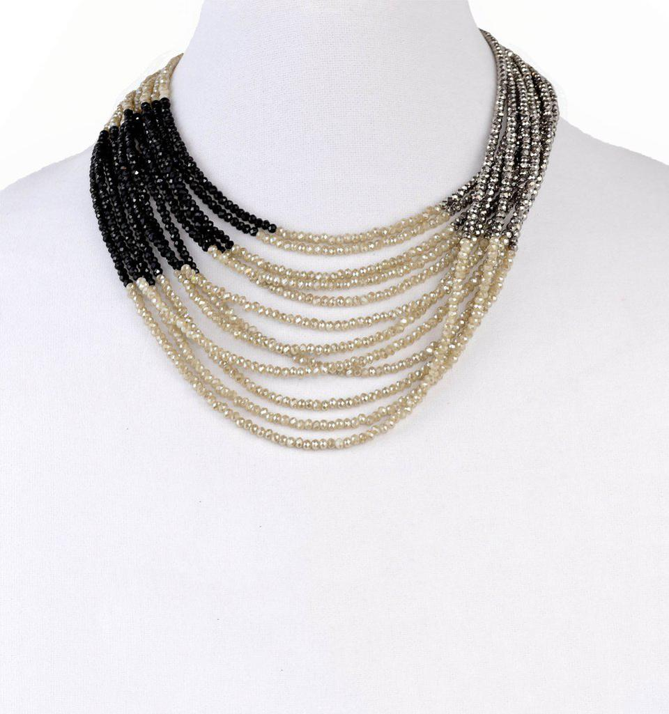 Stranded: This hand-beaded, cut crystal necklace is made to order and costs nearly $500.