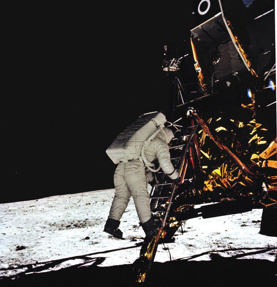 50 years ago, man first stepped foot on the moon. On the wrist: an Omega Speedmaster.