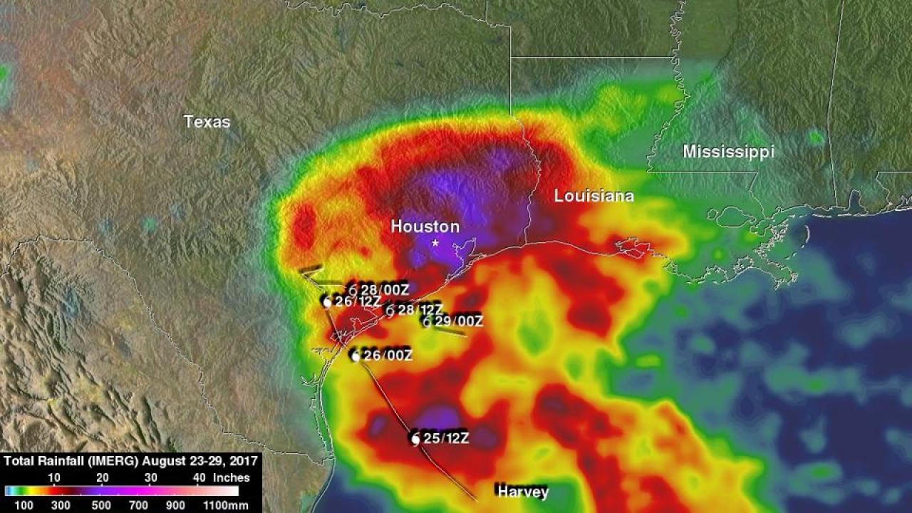 Harvey rainfall footprint