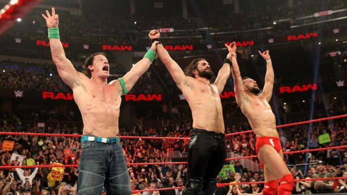 Rollins, Balor and Cena
