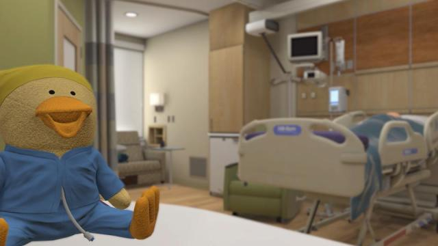 Riley Hospital for Children virtual reality room.