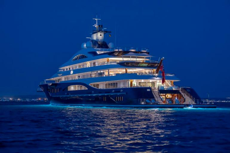 Tis is the largest yacht at the 2019 Monaco Yacht Show
