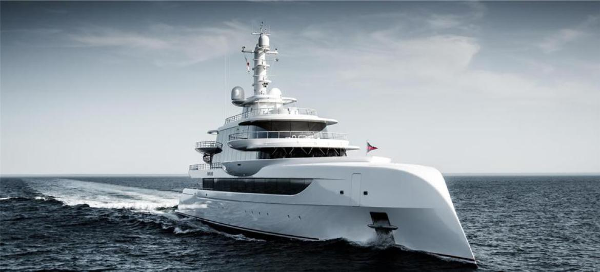 Excellence's distinctive bow and walls of glass eill surly turn heads in Monaco.