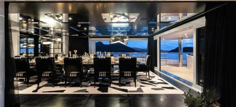 Superyacht Secret interior.