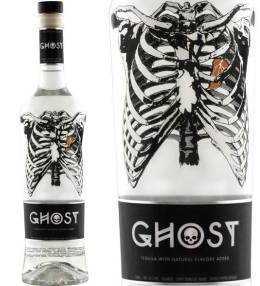 A Ghost Tequila bottle