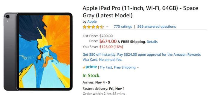 Amazon's Black Friday 2019 Apple iPad Pro sale, Amazon's Black Friday 2019 Apple deals